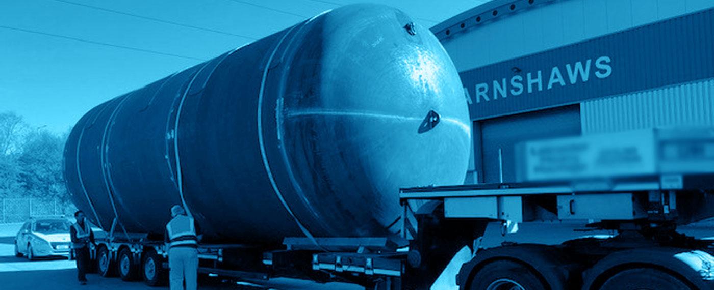 przypadku - Firma Barnshaws po raz kolejny przekroczyła własne granice produkując największy spawany zbiornik.